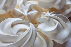 Biała beza - prosty lato deser Obraz Royalty Free