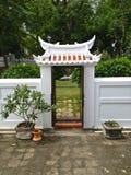 Biała brama Zdjęcie Stock