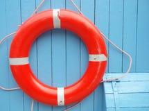 Bóia de vida vermelha Fotografia de Stock