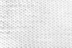 Biała Dziewiarska Woolen tekstura Fotografia Royalty Free