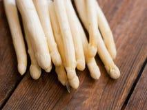 Białe asparagus porady Obrazy Stock