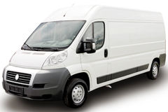białe furgonetki Zdjęcie Royalty Free