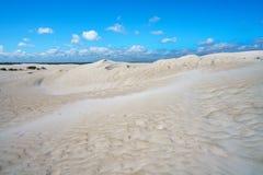 Białe lancelin piaska diuny, zachodnia australia 10 fotografia stock
