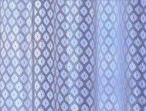 Białe nadokienne zasłony gradientowe obrazy royalty free