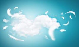 białe pióra Zdjęcie Royalty Free