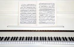 białe pianino Fotografia Stock