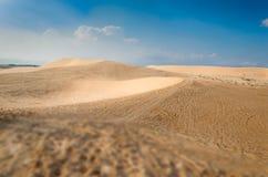 Białe piasek diuny, Mui Ne Obraz Royalty Free
