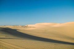 Białe piasek diuny przy Muine, Wietnam Obrazy Royalty Free