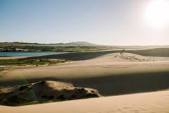 Białe piasek diuny przy Muine, Wietnam Obrazy Stock