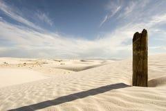 białe piaski Zdjęcia Stock