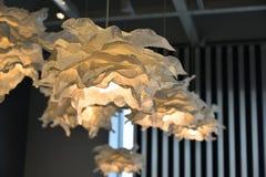 Białego papieru lampy Obrazy Stock