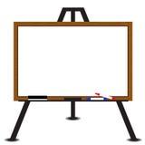 Białej deski drewna rama na sztaludze ilustracji