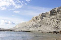 Białej falezy Scala nazwany dei Turchi Fotografia Stock