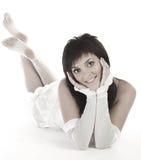białej kobiety bielizny young Zdjęcia Stock