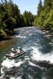 Białej wody rzecznego flisactwa ponton Zdjęcia Royalty Free