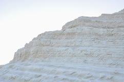 Biała faleza Scala dei Turchi blisko Agrigento, Sicily Zdjęcie Stock