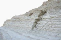 Biała faleza Scala dei Turchi blisko Agrigento, Sicily (Turecki schody) Zdjęcie Stock
