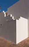 Biała fasada budynek w Egipt Zdjęcia Stock
