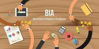 Bia-Geschäftswirkungsanalyseillustrations-Teamarbeit zusammen mit Hand Stockfotos