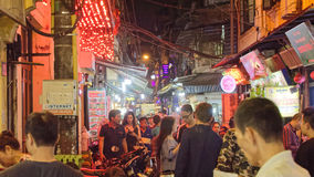 Bia Hoi餐馆在河内 库存照片