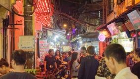 Bia Hoi-restaurants in Hanoi stock foto