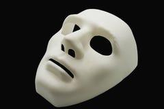 Biała istoty ludzkiej maska Zdjęcie Royalty Free