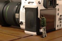 Biała kamera Fotografia Stock