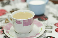 Biała kawa Obrazy Stock