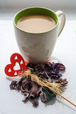 Biała kawa fotografia stock