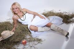 biała kobieta Fotografia Stock