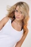 biała koszula dziewczyna Fotografia Royalty Free