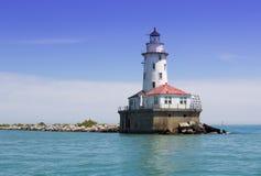 Biała latarnia morska Obraz Royalty Free
