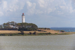 Biała latarnia morska Zdjęcie Stock