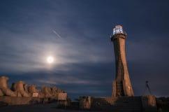 Biała latarnia morska Zdjęcie Royalty Free