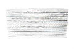 Biała magazyn sterta Fotografia Royalty Free