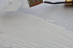 Biała nafciana farba Fotografia Royalty Free
