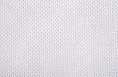 Biała nonwoven tkaniny tekstura Zdjęcie Stock