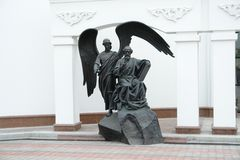 Bia?oru?, Minsk Rze?ba St i anio?, ?wi?tego ducha katedra fotografia royalty free
