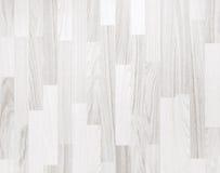 Biała parkietowa drewniana tekstura Obraz Royalty Free