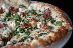 Biała pizza Zdjęcia Stock