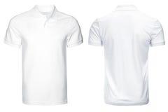 Biała polo koszula, odziewa Obraz Royalty Free