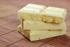 Biała porowata czekolada Fotografia Royalty Free