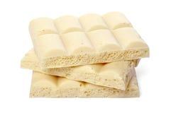 Biała porowata czekolada Zdjęcie Stock