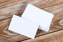 Biała pusta biznesowa wizyty karta Fotografia Stock