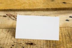 Biała pusta biznesowa wizyty karta, prezent, bilet Obrazy Royalty Free