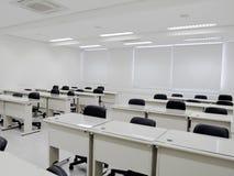 Biała sala lekcyjna Obrazy Stock
