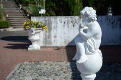 Biała statua Zdjęcie Royalty Free