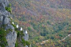 Biała stupa Zdjęcia Stock