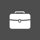 Biała teczki ikona Zdjęcie Stock