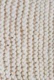 Biała trykotowa tekstura z pionowo wzorem Zdjęcie Stock